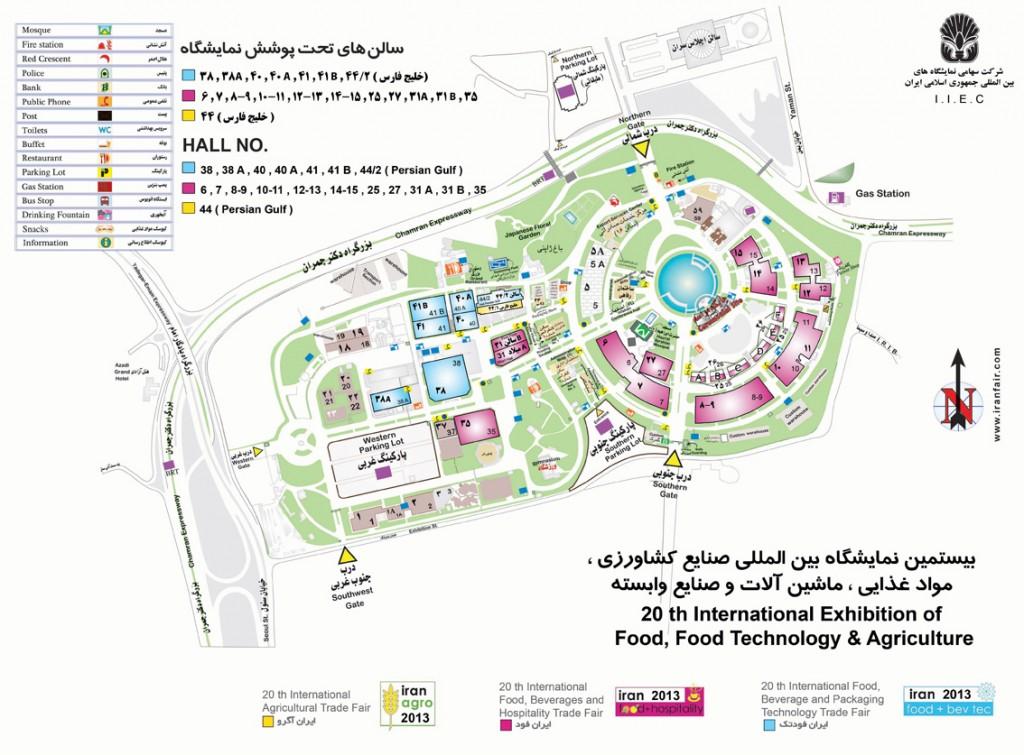نقشه محوطه تحت پوشش نمایشگاه
